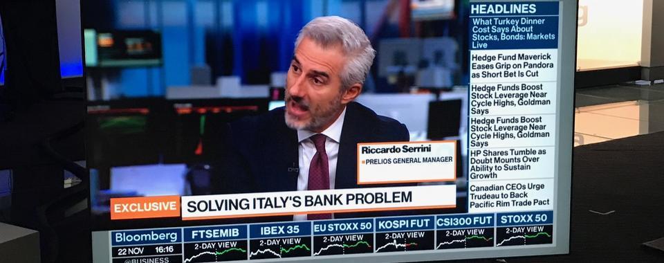 Riccardo Serrini a Londra per Class CNBC e Bloomberg TV