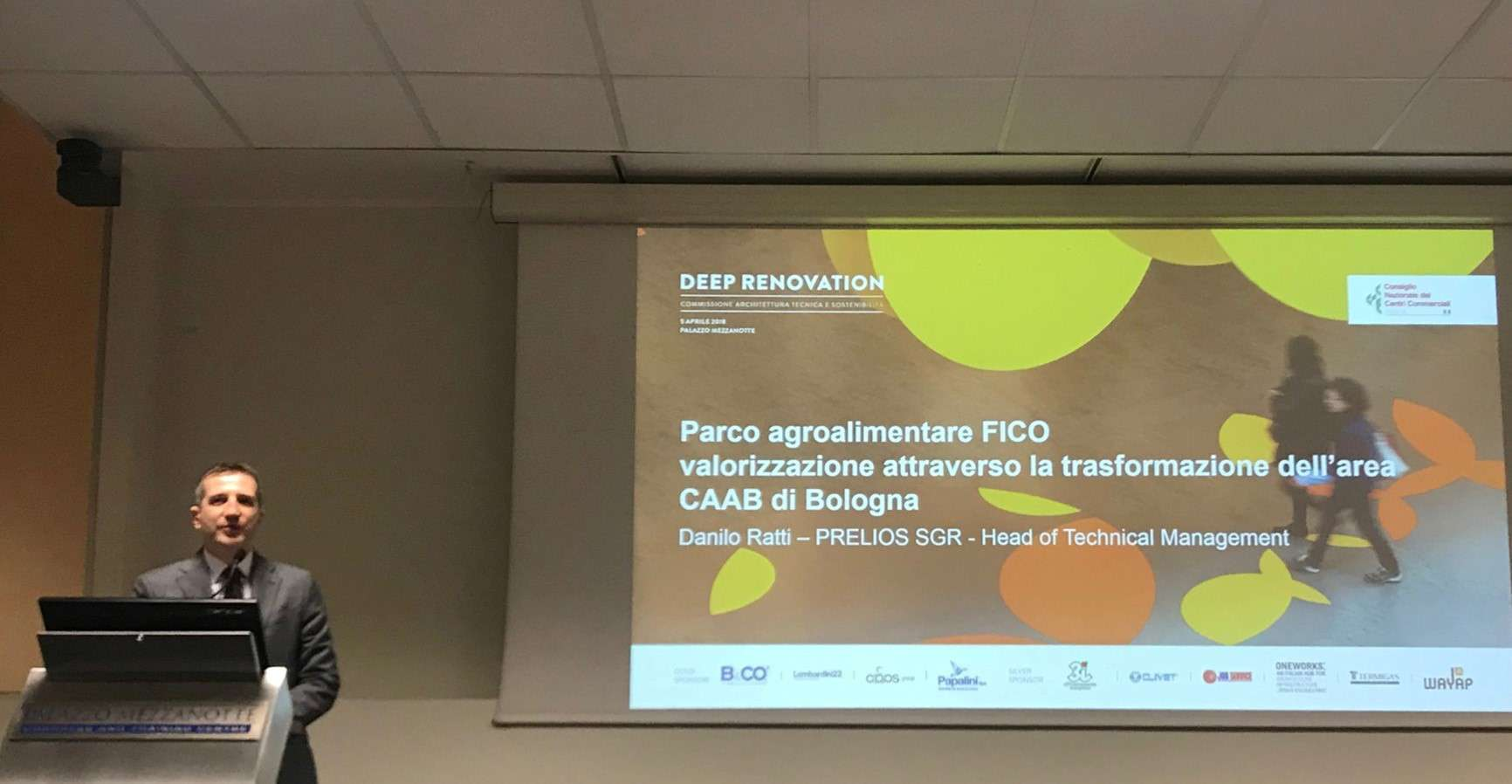 Danilo Ratti, Head of Technical Management di Prelios SGR al convegno Deep Renovations