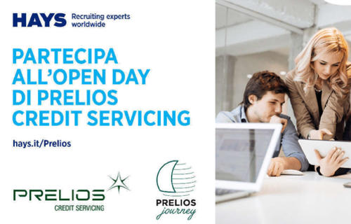 Prelios Credit Servicing: open days in Milan on thursday 12 April and tuesday 17 April, organised in conjunction with Hays