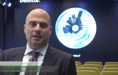 Andrea Ciaramella, Associate Professor at Milan Polytechnic at the presentation of Premium