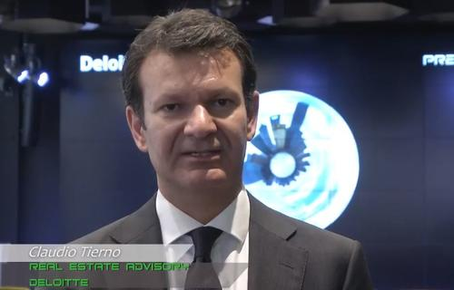 Claudio Tierno, Real Estate Advisor of Deloitte, at the launch event of Premium