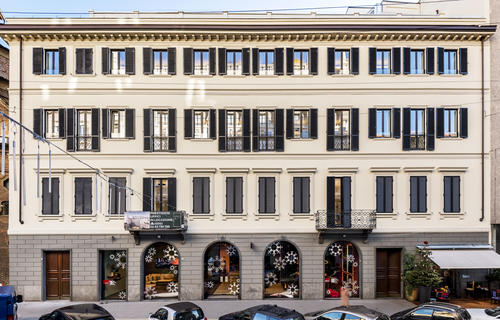 Milano, Durini18: conservative restoration in the heart of Milano's design district