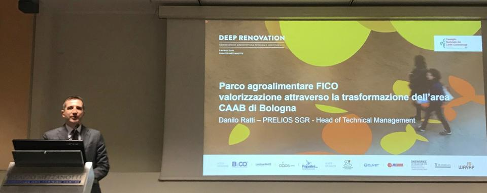 Danilo Ratti, Head of Technical Management of Prelios SGR at the Deep Renovation Conference