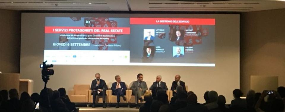 "Nicolò Tarantino, Prelios Integra CEO, at the ilQI Congress ""Services, the protagonists of real estate"""